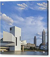 Blue Skies Over Cleveland Acrylic Print