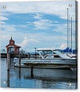 Blue Skies Over Seneca Lake Marina Acrylic Print