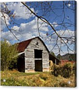 Blue Skies Red Roof Acrylic Print