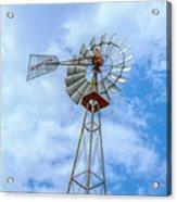 Blue Sky Aermotor Windmill Acrylic Print