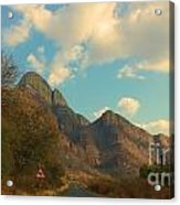 Blue Sky And Mountains Acrylic Print