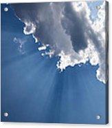 Blue Sky And Sun Rays Acrylic Print
