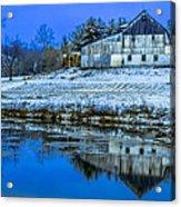 Blue Sky Barn Acrylic Print