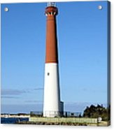 Blue Sky Blue Sea  And Barnegat Light Acrylic Print