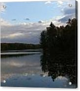 Blue Sky Clouds And Reflections Acrylic Print