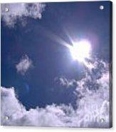 Blue Sky Clouds And Sunshine Acrylic Print