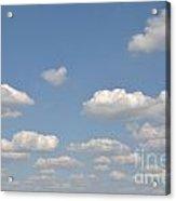 Blue Sky Clouds Acrylic Print