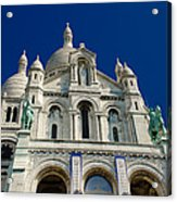 Blue Sky Over Sacre Coeur Basilica Acrylic Print