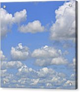 Blue Sky With Cumulus Clouds Day Usa Acrylic Print