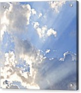 Blue Sky With Sun Rays Acrylic Print