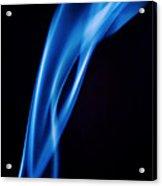 Blue Smoke  Abstract  Acrylic Print