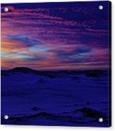 Blue Snow Sunset Acrylic Print