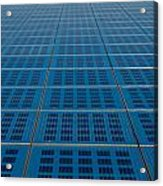 Blue Solar Panel Collector View Acrylic Print
