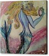 Blue Spike Mermaid Acrylic Print