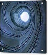 Blue Spiral Staircaise Acrylic Print