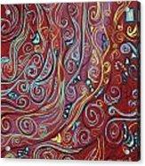 Blue Squiggles Acrylic Print