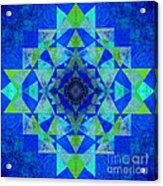 Blue Sri Yantra Variation Acrylic Print