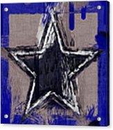 Blue Star Abstract Acrylic Print