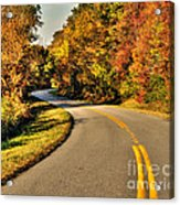 Blue Star Highway In Fall Acrylic Print