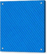 Blue Striped Diagonal Textile Background Acrylic Print