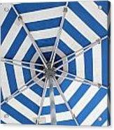 Blue Striped Umbrella Acrylic Print