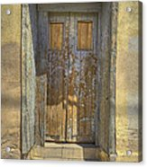 Blue Stripped Door Acrylic Print