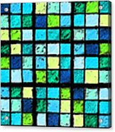 Blue Sudoku Acrylic Print