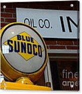 Blue Sunoco Globe Acrylic Print