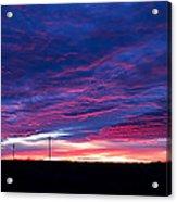 Blue Sunrise In West Texas Acrylic Print