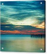 Blue Sunset Acrylic Print by Christopher Blake