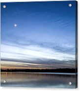 Grapevine Lake Blue Sunset Acrylic Print