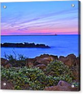 Blue Sunset Acrylic Print by Frozen in Time Fine Art Photography