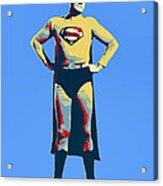 Blue Superman Acrylic Print