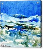Blue Surf Acrylic Print