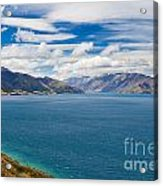 Blue Surface Of Lake Hawea In Central Otago Of New Zealand Acrylic Print