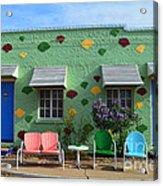 Blue Swallow Motel In Tucumcari In New Mexico Acrylic Print