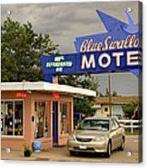 Blue Swallow Motel Acrylic Print
