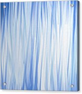 Blue Swoops Vertical Abstract Acrylic Print