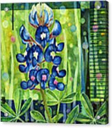 Blue Tapestry Acrylic Print