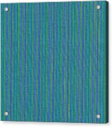 Blue Teal And Yellow Striped Textile Background Acrylic Print