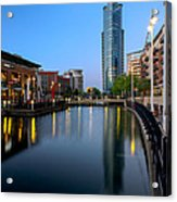 Blue Tower Acrylic Print by Trevor Wintle