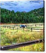 Blue Tractor Deckers Colorado Acrylic Print