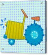 Blue Tractor Acrylic Print