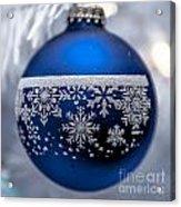 Blue Tree Ornament Acrylic Print