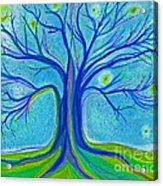 Blue Tree Sky By Jrr Acrylic Print