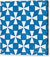 Blue Twirl Acrylic Print