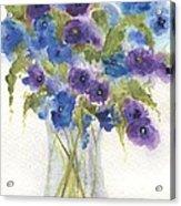 Blue Violet Flower Vase Acrylic Print
