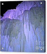 Blue Violet Ice Mountain Acrylic Print