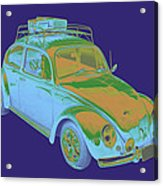 Blue Volkswagen Beetle Punch Buggy Modern Art Acrylic Print