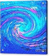 Blue Vortex Abstract 2 Intense Acrylic Print